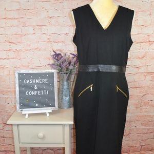 Calvin Klein LBD Black Sheath Dress NEW NWOT C3